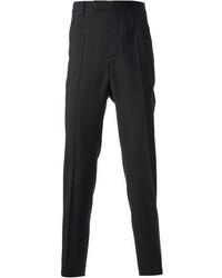 Черные классические брюки в вертикальную полоску