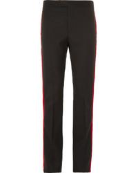 Мужские черные классические брюки в вертикальную полоску от Saint Laurent