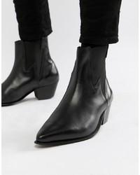 Мужские черные ковбойские сапоги от ASOS DESIGN