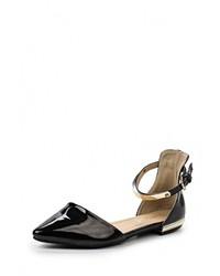 Женские черные кожаные балетки от Sweet Shoes
