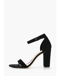 Черные кожаные босоножки на каблуке от Aldo