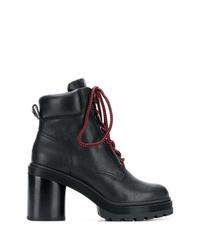 Черные кожаные ботильоны на шнуровке от Marc Jacobs