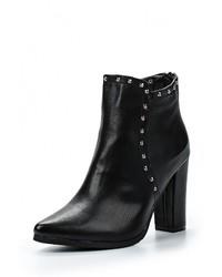 Женские черные кожаные ботильоны от Bellamica