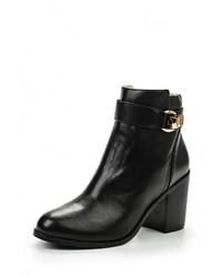 Женские черные кожаные ботильоны от Buffalo London