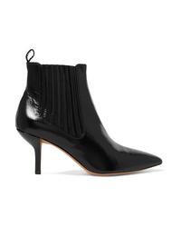 Черные кожаные ботильоны от Diane von Furstenberg