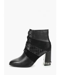 Черные кожаные ботильоны от Dino Ricci