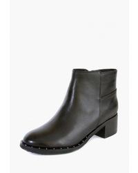 Черные кожаные ботильоны от M.Shoes