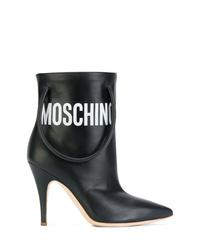 Черные кожаные ботильоны от Moschino