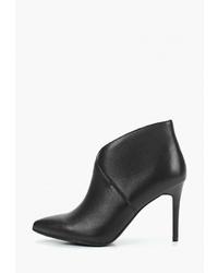 Черные кожаные ботильоны от Pierre Cardin
