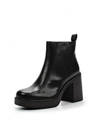 Черные кожаные ботильоны от Vagabond