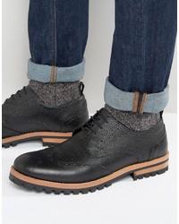 Черные кожаные ботинки броги от Asos