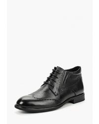 Черные кожаные ботинки броги от Dino Ricci Select