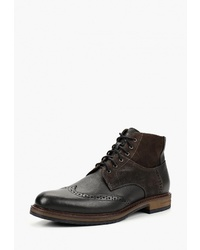 Черные кожаные ботинки броги от Domeno