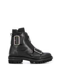 Черные кожаные ботинки броги от DSQUARED2