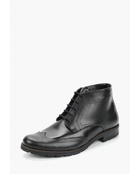 Черные кожаные ботинки броги от Goodzone