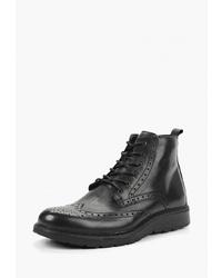 Черные кожаные ботинки броги от Imac