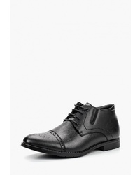 Черные кожаные ботинки броги от Instreet