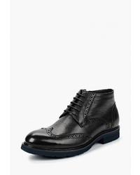 Черные кожаные ботинки броги от Just Couture