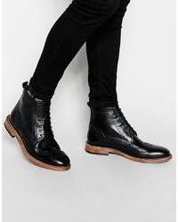 Черные кожаные ботинки броги от Kg Kurt Geiger
