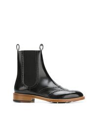 Черные кожаные ботинки броги от Maison Margiela