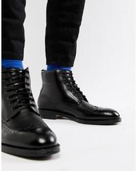Черные кожаные ботинки броги от Ted Baker