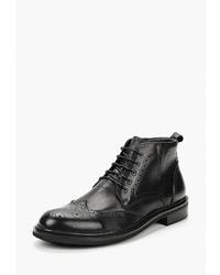 Черные кожаные ботинки броги от Valor Wolf