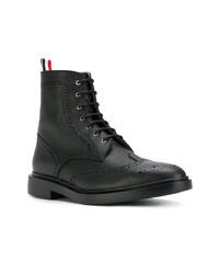 Черные кожаные ботинки броги от Thom Browne
