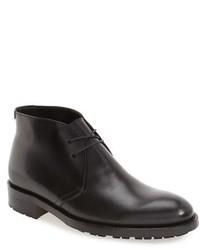 Черные кожаные ботинки дезерты