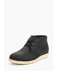 Черные кожаные ботинки дезерты от Affex