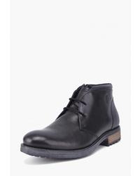 Черные кожаные ботинки дезерты от Airbox