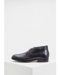 Черные кожаные ботинки дезерты от Aldo Brué
