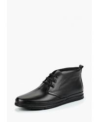 Черные кожаные ботинки дезерты от Alessio Nesca