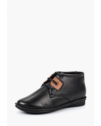 Женские черные кожаные ботинки дезерты от Alessio Nesca