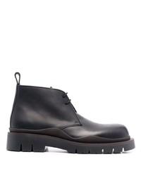 Черные кожаные ботинки дезерты от Bottega Veneta