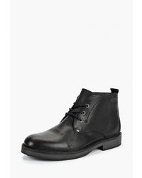 Черные кожаные ботинки дезерты от El Tempo
