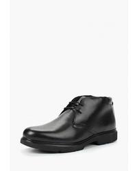 Черные кожаные ботинки дезерты от Geox