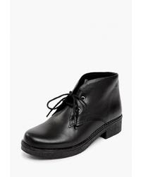 Женские черные кожаные ботинки дезерты от Pierre Cardin