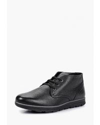 Черные кожаные ботинки дезерты от Ralf Ringer