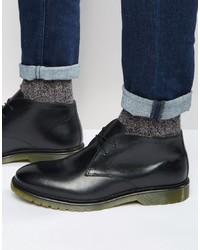 Черные кожаные ботинки дезерты от Red Tape