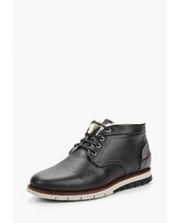 Черные кожаные ботинки дезерты от Salamander