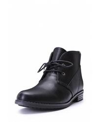 Женские черные кожаные ботинки дезерты от T.Taccardi