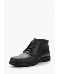 Черные кожаные ботинки дезерты от Timberland
