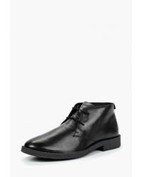 Черные кожаные ботинки дезерты от Woodland