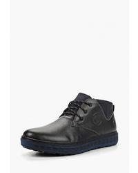 Черные кожаные ботинки дезерты от Zain