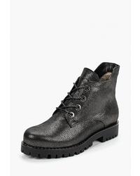 Женские черные кожаные ботинки на шнуровке от Dolce Vita