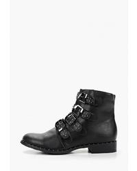 Женские черные кожаные ботинки на шнуровке от Haily's