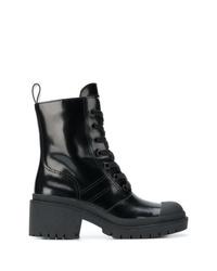 Женские черные кожаные ботинки на шнуровке от Marc Jacobs