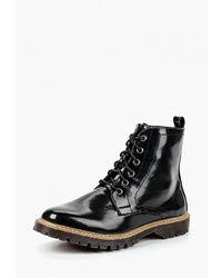 Женские черные кожаные ботинки на шнуровке от Prendimi