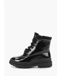 Женские черные кожаные ботинки на шнуровке от Sprincway