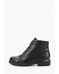 Женские черные кожаные ботинки на шнуровке от T.Taccardi